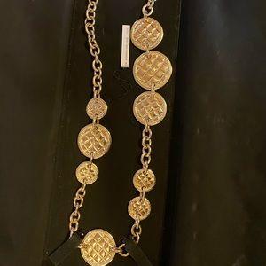 Gold Chanel coin belt
